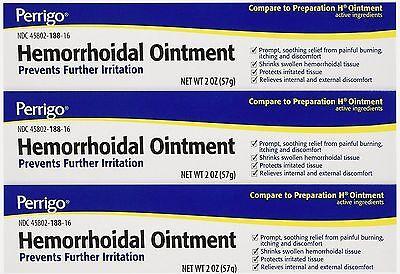 Perrigo Hemorrhoid Ointment 2oz ( 3 tubes )  Hemorrhoidal Ointment Tube