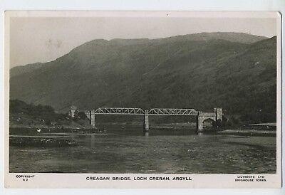 Creagan Bridge Loch Creran Argyll Real Photograph Postcard  A15