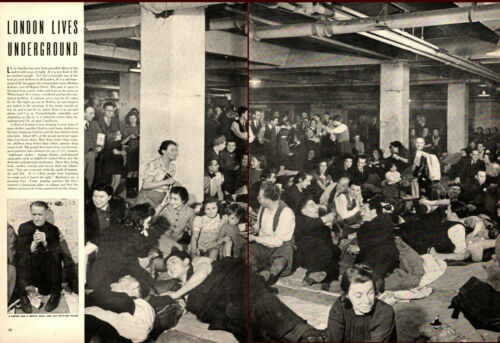 1940 WW2 article LONDON LIVES UNDERGROUND During the Battle of Britain  081919