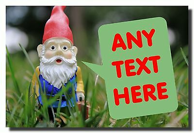 Gnome Garden Personalised Jumbo Fridge Magnet