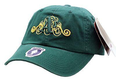 Oakland A's Ladies Green Swirl Logo Buckle Back Cap - B27 (Green Swirl Logo)
