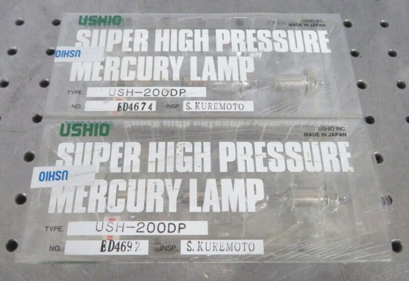 C164420 Lot 2 Ushio USH-200DP Super High Pressure Mercury Hg Arc Lamp Bulb