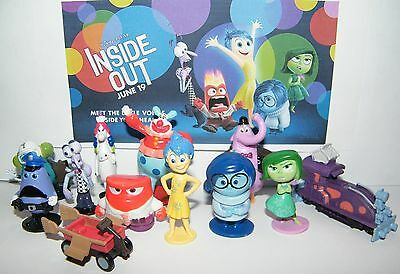 Disney Inside Out Movie Figure Set Of 12 W  5 Emotions  Bing Bong  Jangles