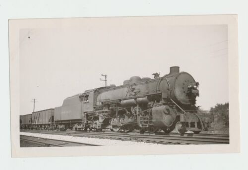 Vintage 1946 Lehigh Valley Railroad Train #432 2-8-2 Real Photo So Plainfield NJ