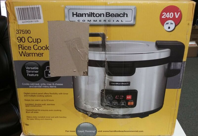 Hamilton Beach 37590 Stainless Steel 90-Cup Rice Cooker / Warmer FREE SHIPPING!