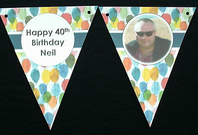 Personalized Balloons With Photo (PAPER BUNTING - HAND CRAFTED - PERSONALISED - WITH PHOTO - FOR ANY)