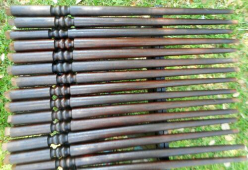 28 Antique Walnut Staircase Balusters & 14