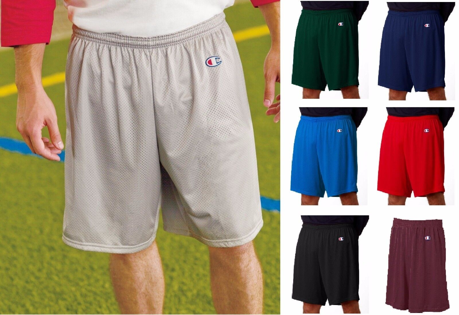 8731 Champion Active Wear Men's Mesh Gym Basketball Shorts -