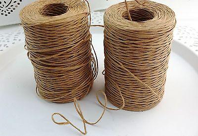 (0,25€/m) 10m Papierdraht natur Kordel 1,5cm Drahtkordel Vintage