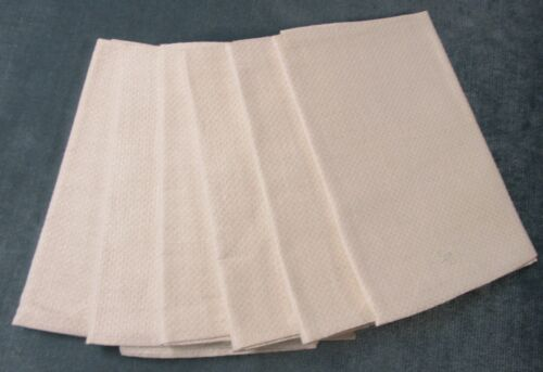 Antique 6 Linen Large Kitchen Towels German S C Monogram Satin Striping Unused