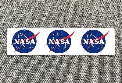 NASA LOGO mini Sticker SPACE 1in - Set of 3 individual stickers in 1 Sheet