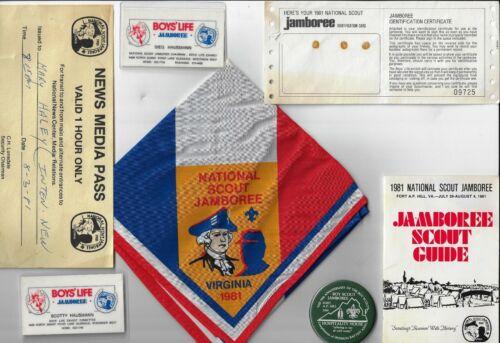 National Boy Scouts America Jamboree 1981 Ft. A.P. Hill VA Official BSA Caroline