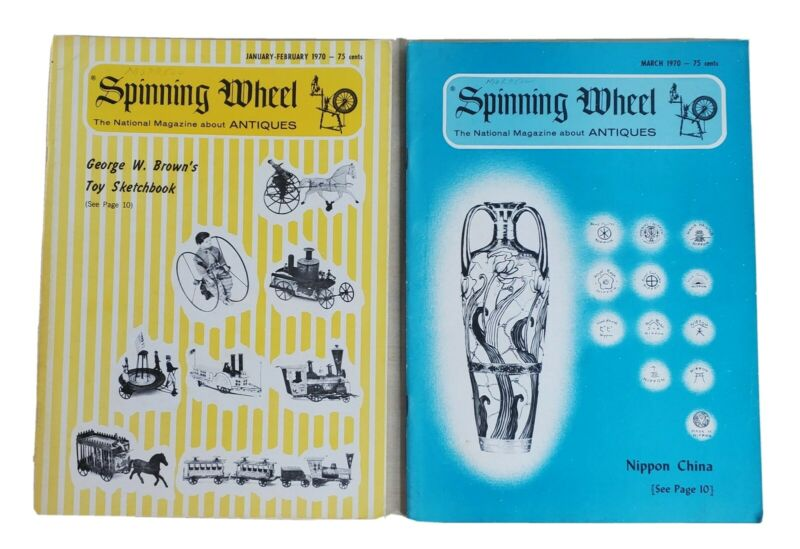 Spinning Wheel Antique Magazine 2 Mag 1970 January-February And March