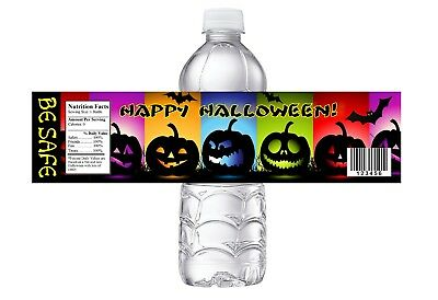 Class Halloween Party (HALLOWEEN PARTY OR BIRTHDAY OR  CLASS PARTY FAVORS WATER BOTTLE LABELS)