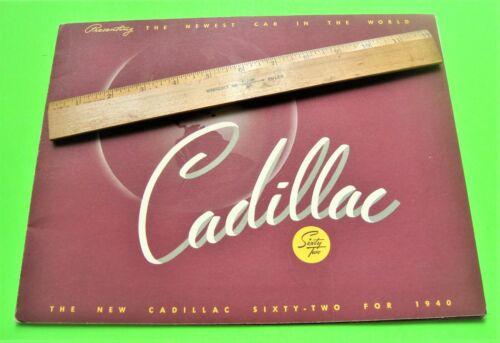 1940 CADILLAC SERIES 62 PRESTIGE PORTFOLIO w/ 3 COLOR FOLDER BROCHURES Xlnt