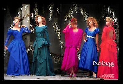 1988 Zurc New Image Bridesmaid Wedding Dress Gown Vintage PRINT AD Marriage 80s