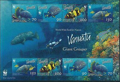VANUATU 2006 - WWF Giant Grouper Sheetlet - MNH