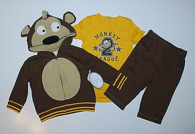 USA~56-62~Jacke+Hose+Body~3 tlg~AFFE~Babyanzug~Kombi~Amerika~Koala Baby~braun