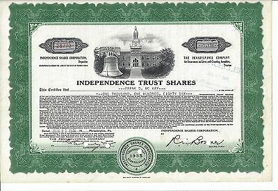 Independence Trust Shares      1948 Certificate