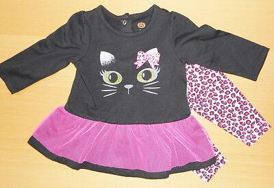 HALLOWEEN💜 Baby Mädchen Kleid 2tlg + passender Leggings💜SCHWARZE - Baby Halloween Kleid