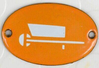 Old French hostel enamel steel building door gate sign plaque garden wheelbarrow
