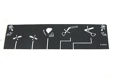 Case Cnh580n D149824 Backhoe Loader Control Foot Pedals Decal Sticker