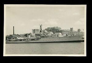 Royal Navy HMS Battleaxe vintage RP PPC