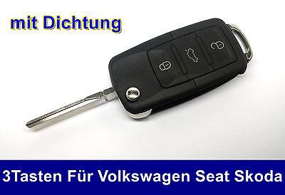 3Tasten Llave Plegable Para VW Skoda Seat Del Coche Electrónica Bruta