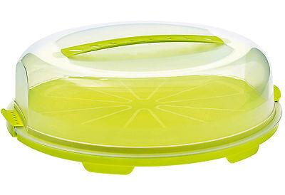 Flache Glocke (Rotho Kuchenbehälter Tortenglocke Behälter Kuchenbox Transportbox flach)