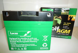 Lucas-12V-34AH-33AH-35AH-36AH-AGM-GEL-36-Holes-GOLF-TROLLEY-BATTERY-with-T-BAR