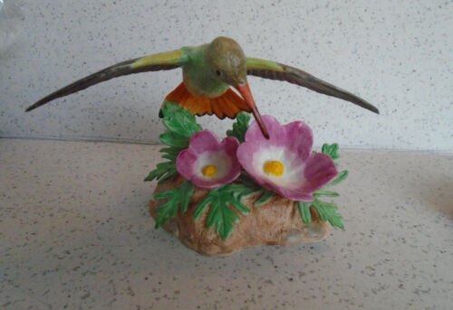 Lenox Garden Birds Buff Bellied Hummingbird New Box COA