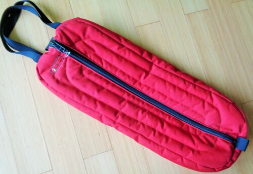 """BMB 27""""x10"""" Top Quality PADDED Zip Show Bridle Halter BAG~Red~Nice CLEAN Cond"""