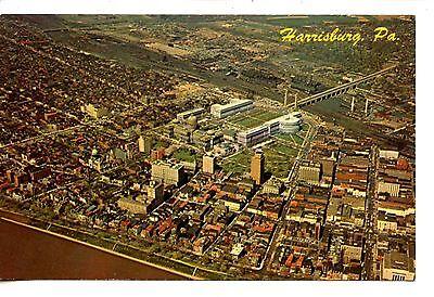 Aerial View-State Capital City of Harrisburg-Pennsylvania-Vintage Postcard