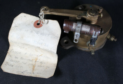 Antique Brass Harris Co. 12 Volt Electrical Toggle Switch