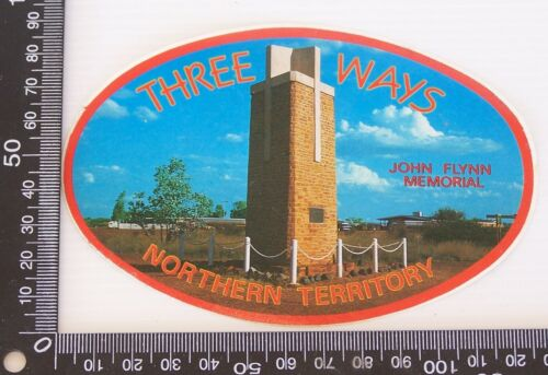 VINTAGE THREE WAYS NORTHERN TERRITORY AUSTRALIA SOUVENIR PROMO STICKER