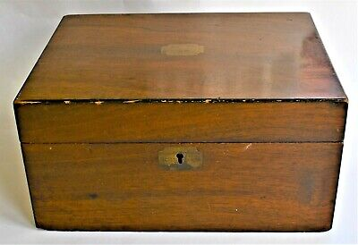 Antique Wooden Box Writing Slope Repair Project 30x23x15cm