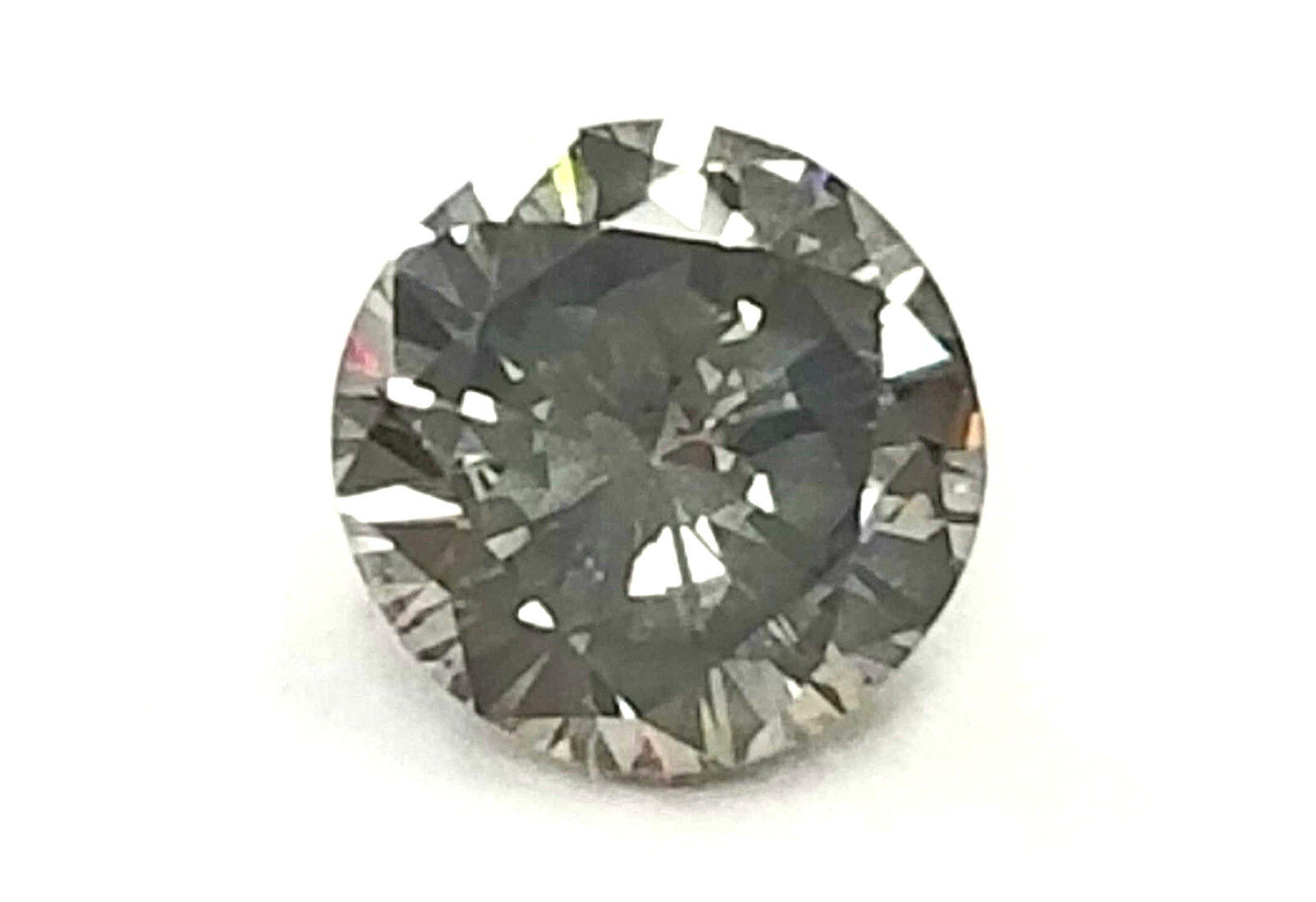 Fancy Dark Gray Color 0.18 CT SI1 GIA Certified Natural Loose Diamond Round Cut