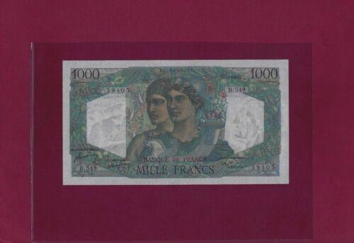 France 1000 Francs 1949 P-130 UNC ,  NO HOLES
