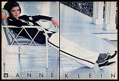 1981 Anne Klein Designer Clothing Vintage PRINT AD Fashion Women's Wear 1980s
