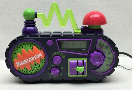 Nickelodeon Time Blaster Slime Digital Alarm Clock Radio 1995 Tested & Working