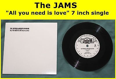 "THE JAMS all you need is love 7"" single Justified KLF Bill Drummond Jimmy Cauty"
