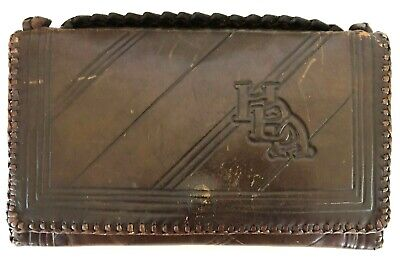 1940s Handbags and Purses History 1940's Vintage Leather Purse with Embossed Initials and Two Matching Wallets $25.00 AT vintagedancer.com