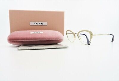 MIU MIU Women's Matte Beige/Gold Glasses with Box SMU 53O UFZ-1O1 (Miu Miu Eye Glasses)