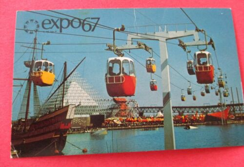 Sky Ride (Cable Cars) Expo 67 Montreal Canada - Unused Postcard