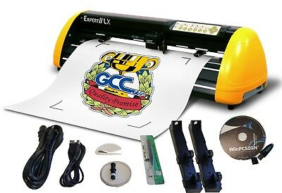New Gcc Expert Lx 24 Plotter. Contour Cut Winpcsign 2018 Usb Software Included
