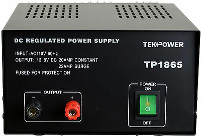 Tekpower Tp1865 22 Amp Dc 13.8v Regulated Power Supply With Fuse Protection