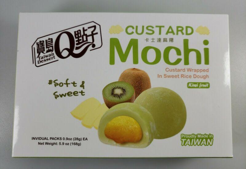 Royal Family Japanese Custard Mochi - Kiwi Flavor - Japanese Mochi 5.9oz (168g)