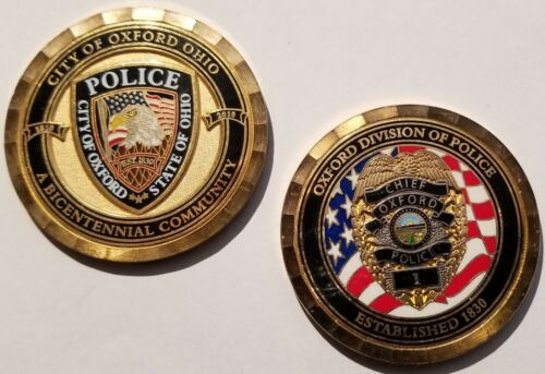 City of Oxford Ohio Division of Police Chief Challenge Coin