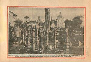 """Forum Caesar César Forum Iulium Caesaris Rome Roma Temple 1934 ILLUSTRATION - France - Commentaires du vendeur : """"OCCASION"""" - France"""