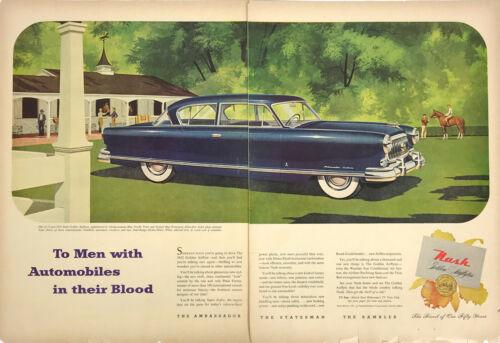 Nash Car Ambassador Statesman Rambler Classic Magazine Print Ad Vintage 2 Pages